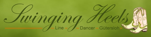 Bild: Banner der Swinging Heels Line Dancer Gütersloh - gross